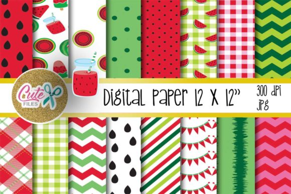 Download Free This Is A Set Of Digital Printed Papers Graphic By Cute Files for Cricut Explore, Silhouette and other cutting machines.