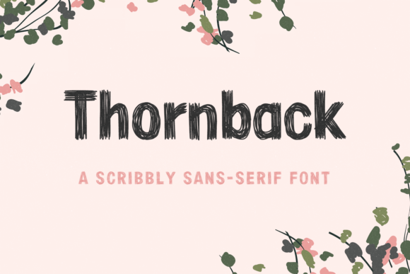 Print on Demand: Thornback Sans Serif Font By laurenashpole