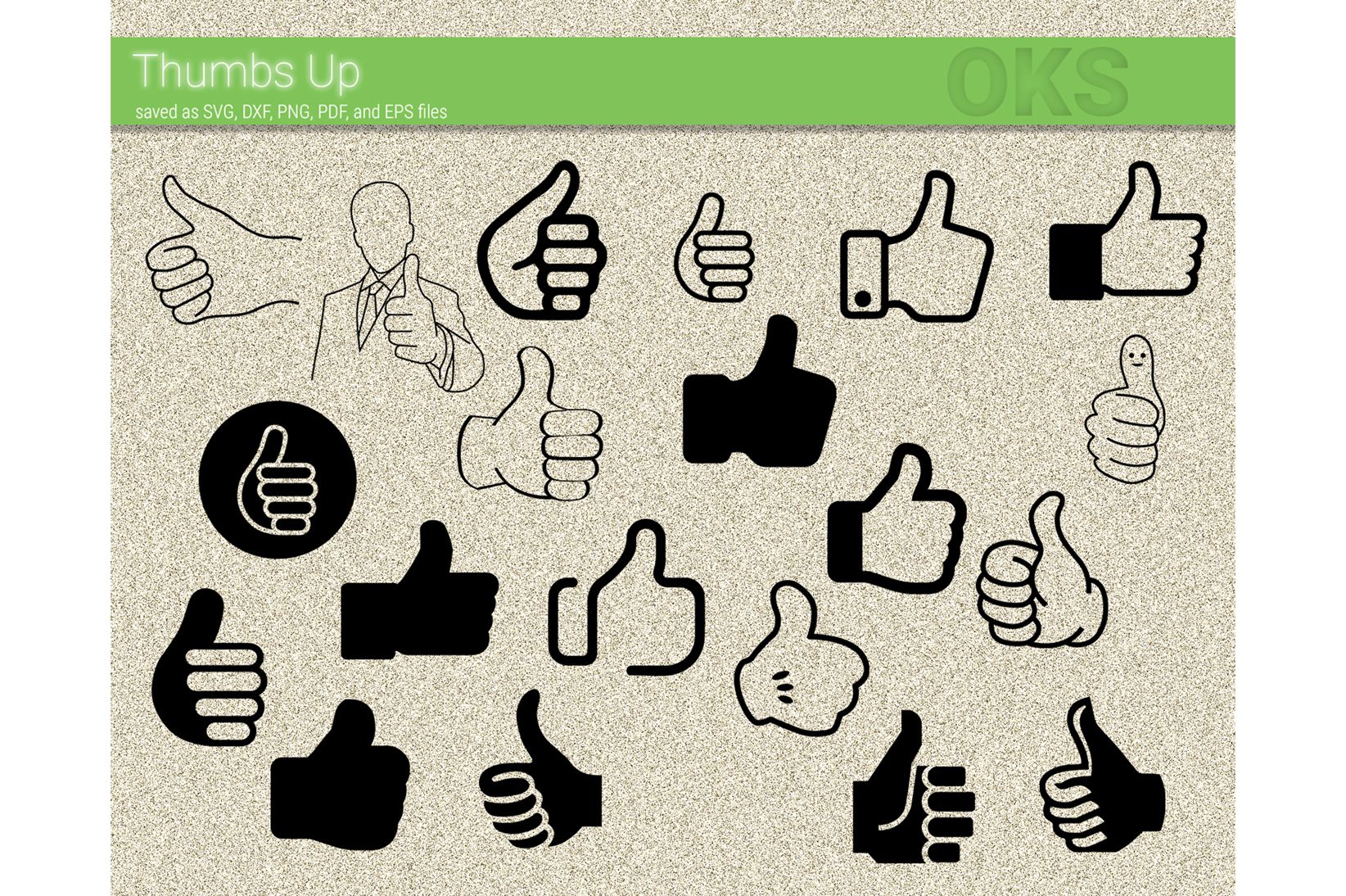 Download Free Thumb Up Vector Hand Sign Graphic By Crafteroks Creative Fabrica for Cricut Explore, Silhouette and other cutting machines.