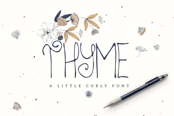 Print on Demand: Thyme Display Font By webvilla