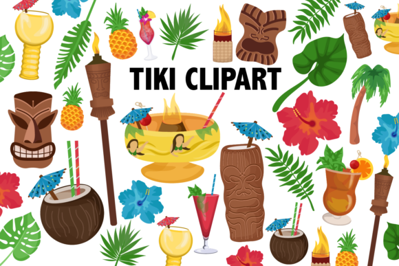 Tiki Clipart Graphic Illustrations By Mine Eyes Design