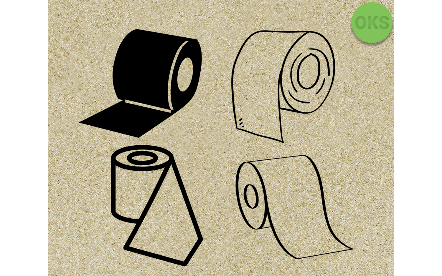 Download Free Tissue Paper Vector Clipart Graphic By Crafteroks Creative Fabrica for Cricut Explore, Silhouette and other cutting machines.