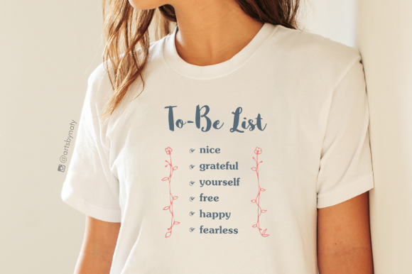 Print on Demand: To-Be List Inspirational Words Graphic Crafts By artsbynaty - Image 3