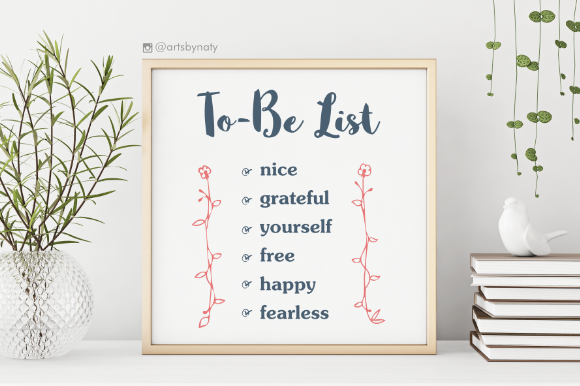 Print on Demand: To-Be List Inspirational Words Graphic Crafts By artsbynaty - Image 4
