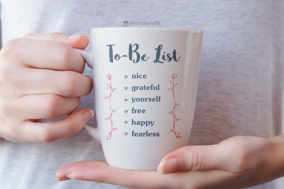 Print on Demand: To-Be List Inspirational Words Graphic Crafts By artsbynaty - Image 5