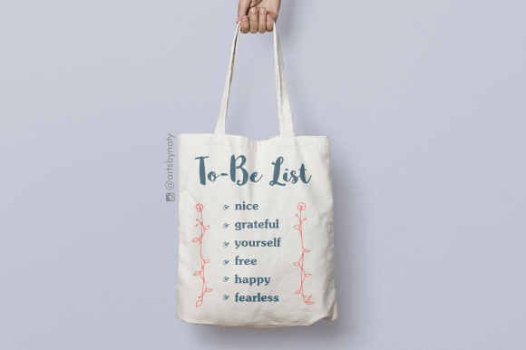 Print on Demand: To-Be List Inspirational Words Graphic Crafts By artsbynaty - Image 6