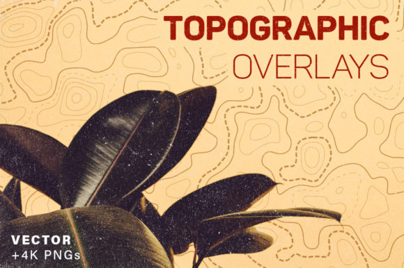 Topography Overlays 8 Pack Gráfico Moldes Por graphicdesignmarket