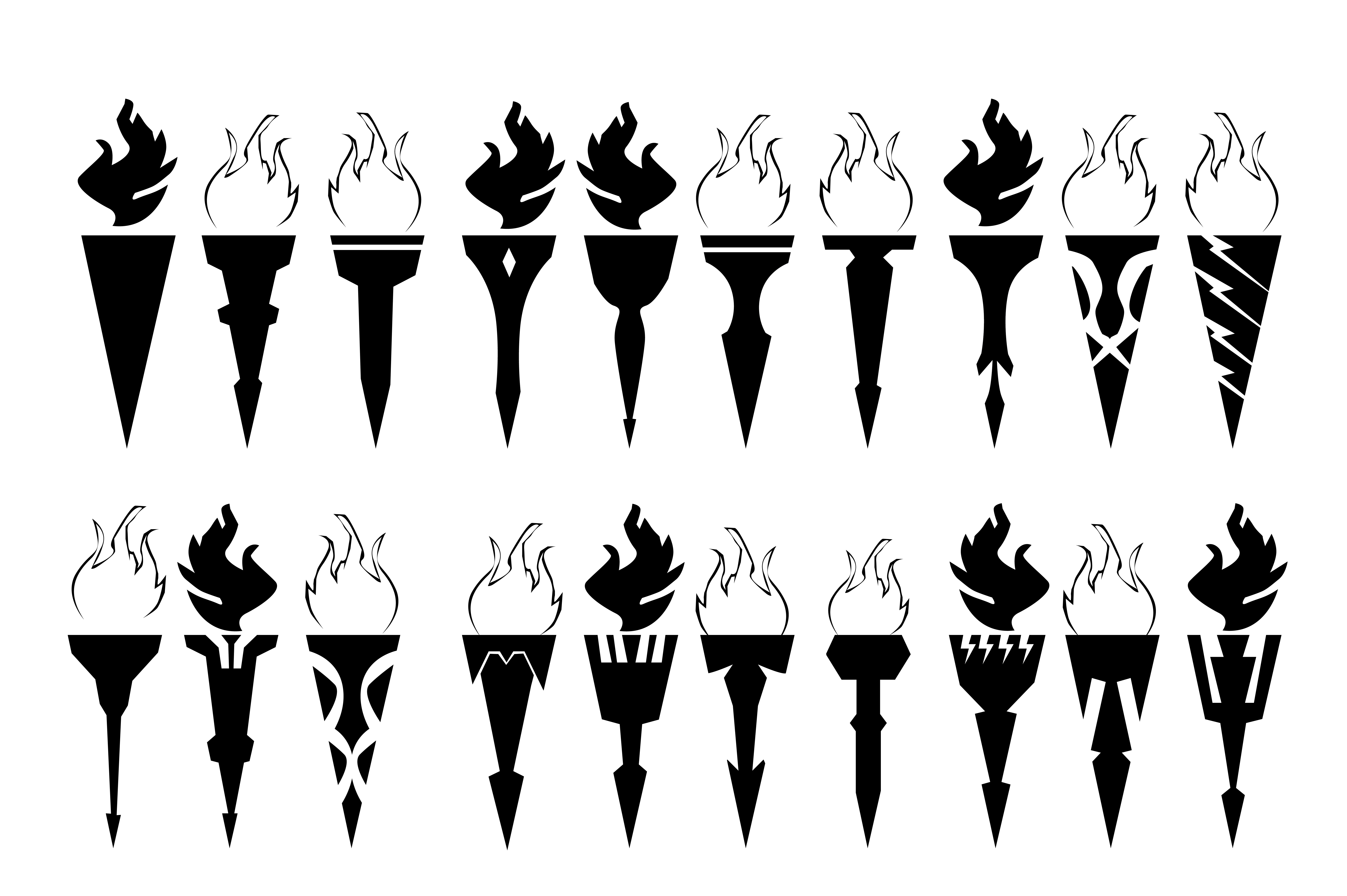 Download Free Torch Icon Collection Graphic By Rfg Creative Fabrica for Cricut Explore, Silhouette and other cutting machines.