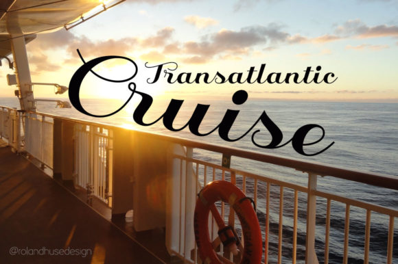 Print on Demand: Transatlantic Cruise Script & Handwritten Font By Roland Hüse Design