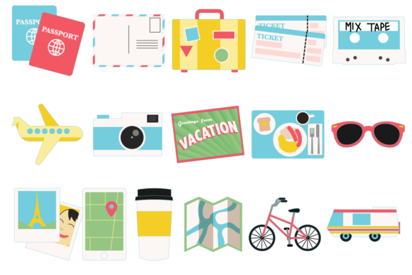 Print on Demand: Travel Icons Graphic Icons By Mine Eyes Design - Image 2