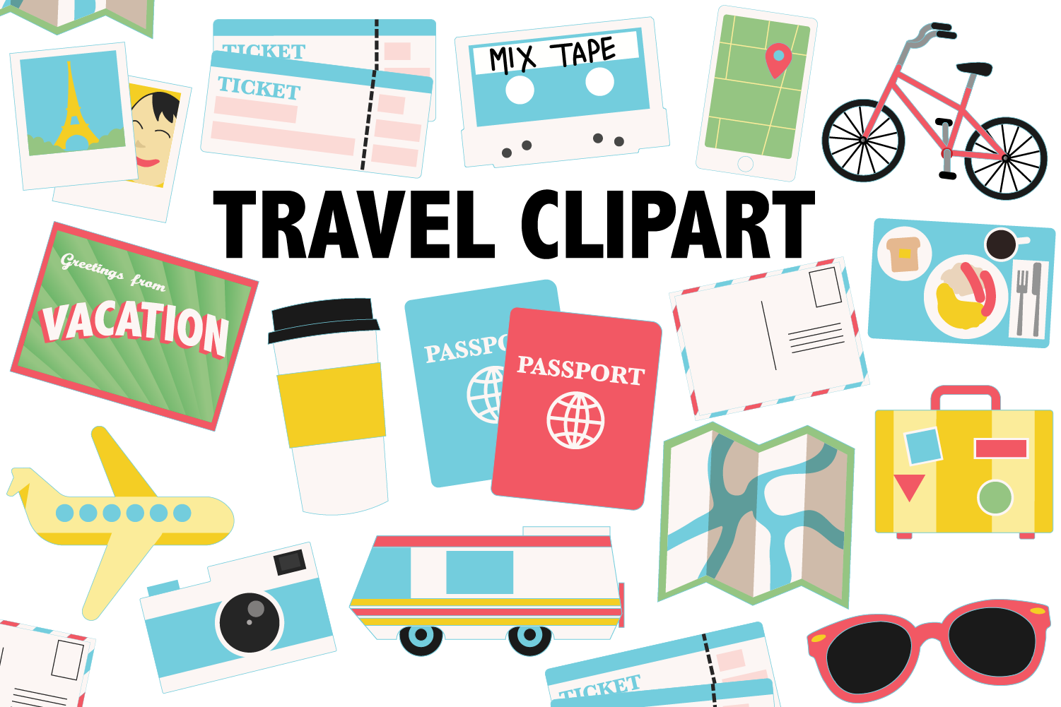 Download Free Travel Icons Graphic By Mine Eyes Design Creative Fabrica for Cricut Explore, Silhouette and other cutting machines.