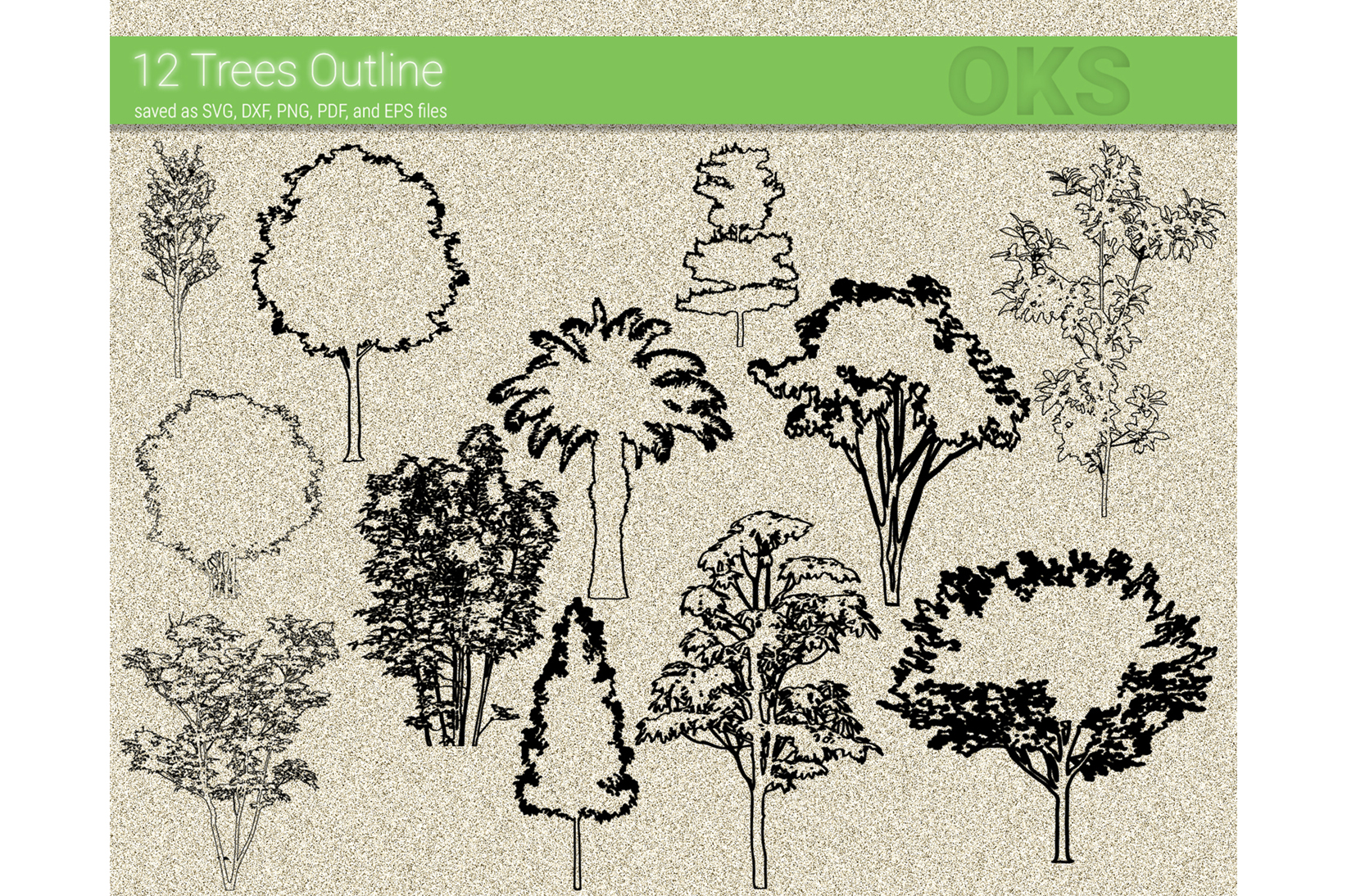 Download Free Trees Outline Vector Graphic By Crafteroks Creative Fabrica for Cricut Explore, Silhouette and other cutting machines.