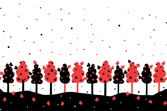 Download Free Trees And Stars Seamless Border Dots Graphic By Milaski for Cricut Explore, Silhouette and other cutting machines.