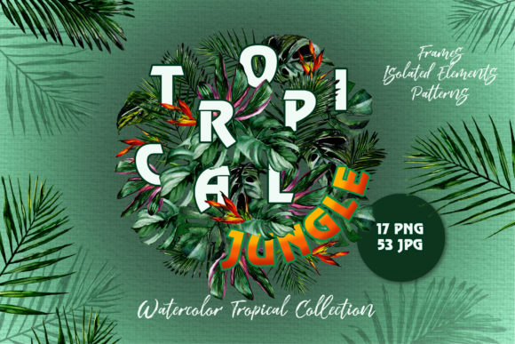 Print on Demand: Tropical Jungle Watercolor Graphic Illustrations By MyStocks