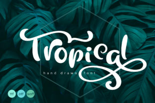 Tropical Font By Happy Letters