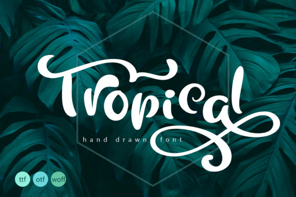Print on Demand: Tropical Script & Handwritten Font By Happy Letters