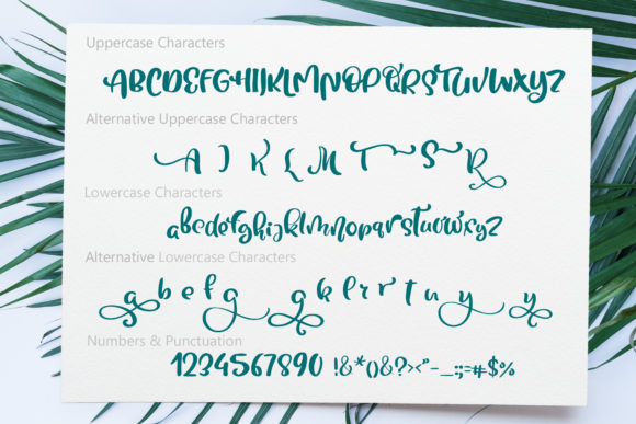 Tropical Font By Happy Letters Image 7