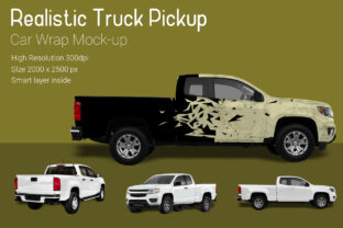 Truck Pickup Mock-Up Graphic By gumacreative