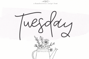 Tuesday Font By KA Designs