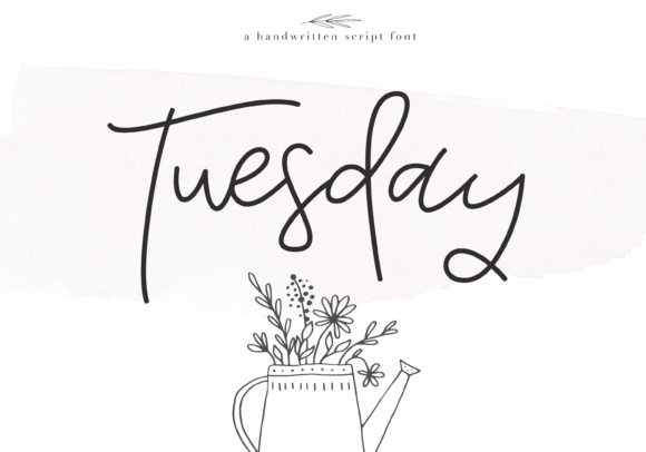 Print on Demand: Tuesday Script & Handwritten Font By KA Designs