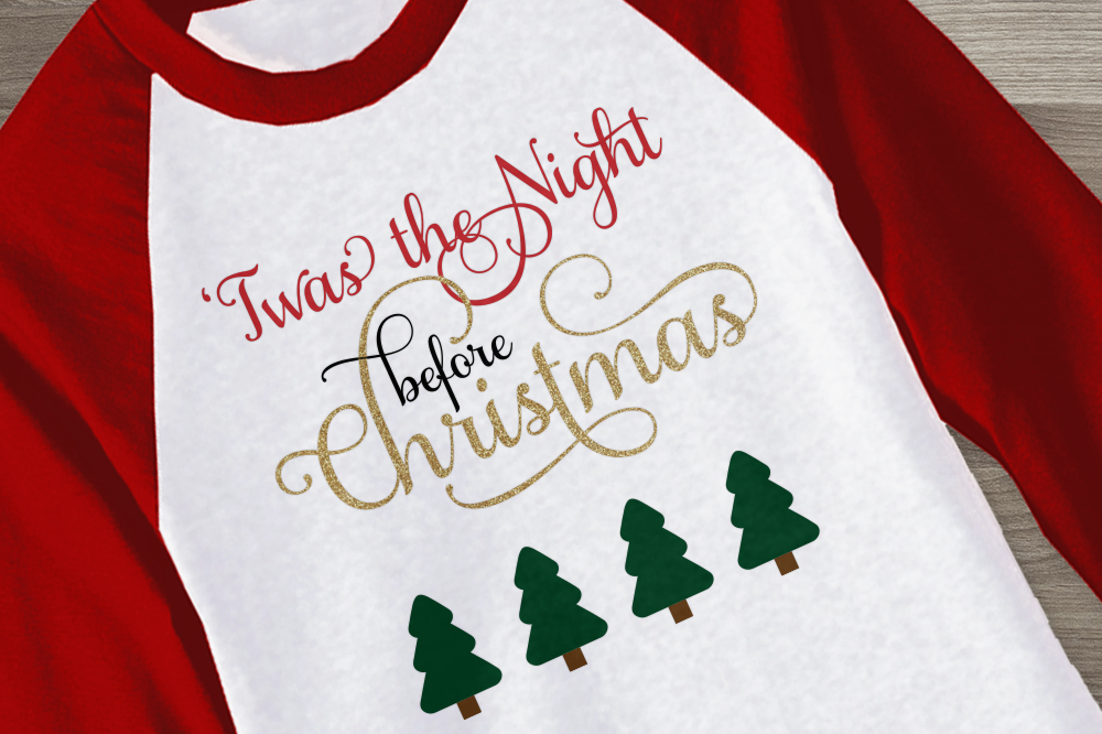 Download Free Twas The Night Before Christmas Graphic By Designedbygeeks for Cricut Explore, Silhouette and other cutting machines.