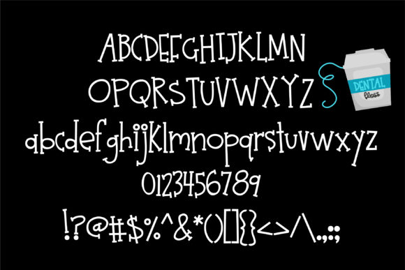Print on Demand: Twinkle Teeth Serif Font By Illustration Ink - Image 2