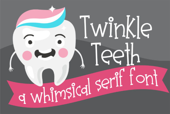 Print on Demand: Twinkle Teeth Serif Font By Illustration Ink