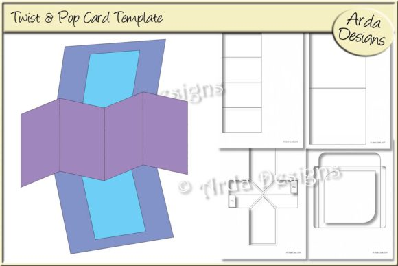 Download Free Twist Pop Card Cu Template Graphic By Arda Designs Creative Fabrica for Cricut Explore, Silhouette and other cutting machines.