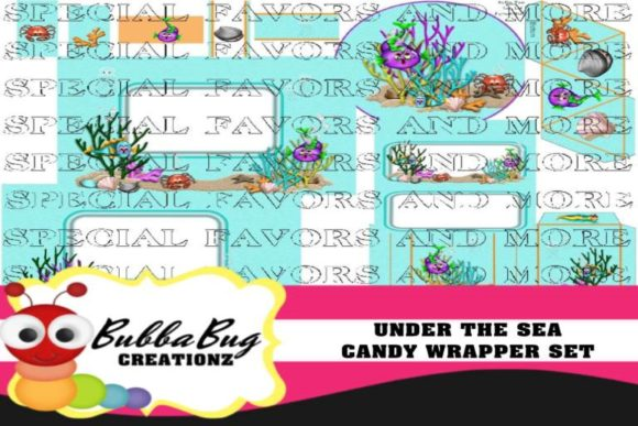 Under the Sea Candy Wrapper Set Graphic Crafts By BUBBABUG