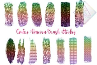 Unicorn Brush Strokes Clipart Graphic By fantasycliparts