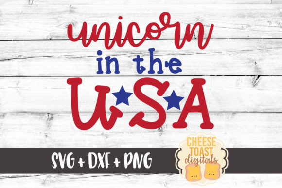Unicorn In The Usa Fourth Of July Svg Graphic By