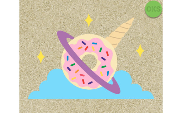 Unicorn Planet Donut Svg Vector File Graphic By Crafteroks