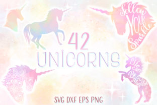 Download Free Unicorn Bundle The Complete Craft Graphic By Anastasia Feya for Cricut Explore, Silhouette and other cutting machines.