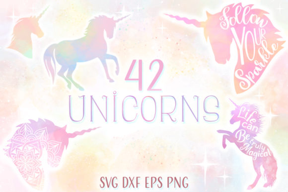 Print on Demand: Unicorn SVG Bundle the Complete Craft Graphic Crafts By Anastasia Feya
