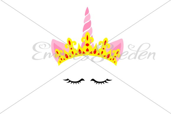 Download Free Unicorn Queen File Graphic By Emmessweden Creative Fabrica for Cricut Explore, Silhouette and other cutting machines.