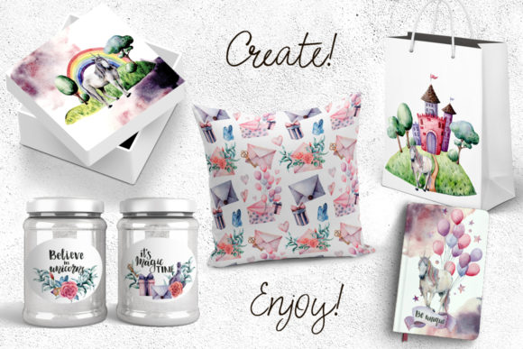 The Magical Unicorn Watercolor Party Bundle Graphic Illustrations By y.derbisheva - Image 11