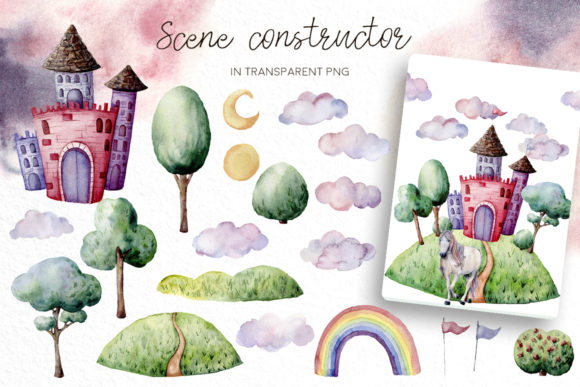 The Magical Unicorn Watercolor Party Bundle Graphic Illustrations By y.derbisheva - Image 4
