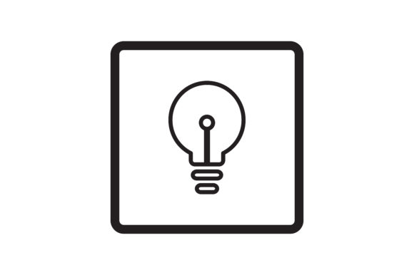 Download Free User Lightbulb Interface Icon Graphic By Zafreeloicon Creative for Cricut Explore, Silhouette and other cutting machines.