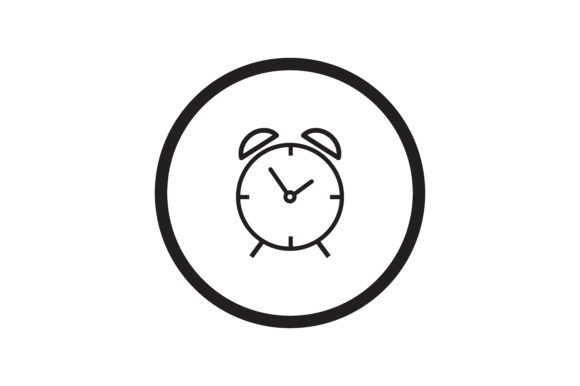 Download Free User Clock Interface Icon Graphic By Zafreeloicon Creative Fabrica for Cricut Explore, Silhouette and other cutting machines.