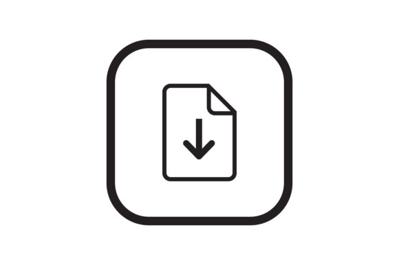 Download Free User Download Doc Interface Icon Graphic By Zafreeloicon for Cricut Explore, Silhouette and other cutting machines.