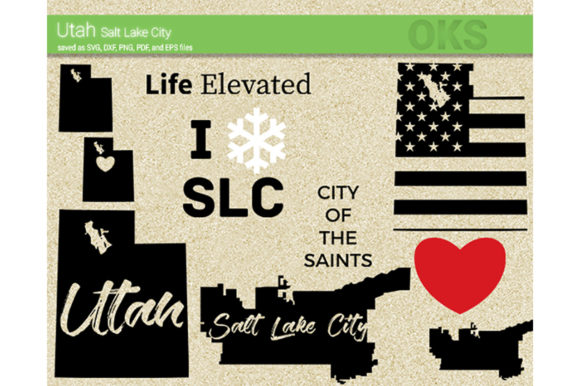Download Free Utah Graphic By Crafteroks Creative Fabrica SVG Cut Files