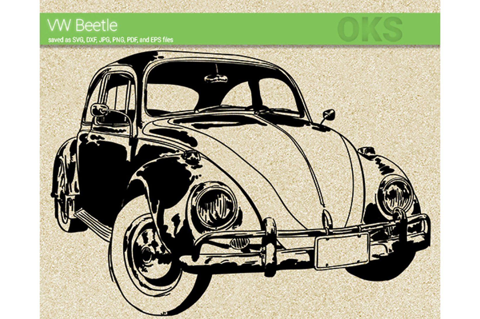 Download Free Vw Beetle Svg Vector Volkswagen Graphic By Crafteroks Creative for Cricut Explore, Silhouette and other cutting machines.