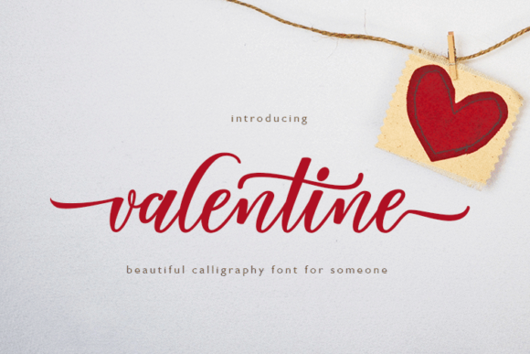 Download Free Valentine Script Font By Elcodetype Creative Fabrica for Cricut Explore, Silhouette and other cutting machines.