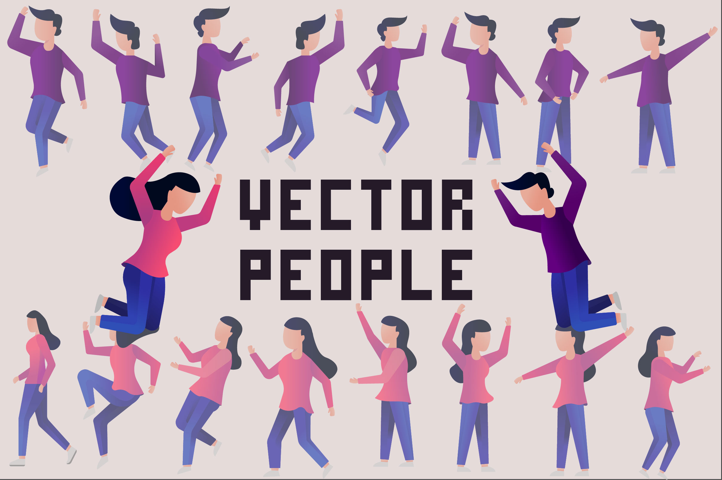 Download Free Vector People Graphic By Arausidp Creative Fabrica for Cricut Explore, Silhouette and other cutting machines.