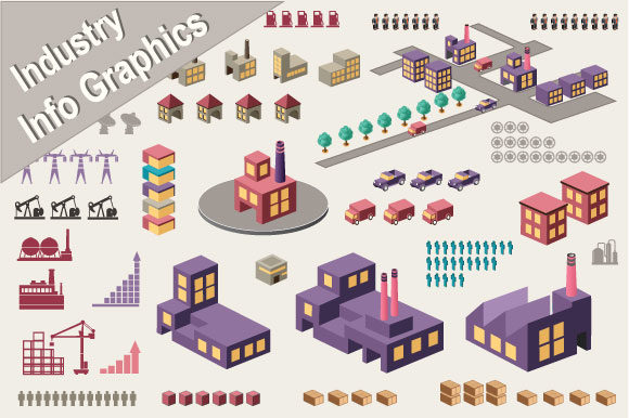 Vector  Elements Infographics Industry Graphic By AlexZel