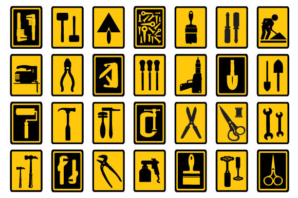 Print on Demand: Vector Tools Graphic Icons By AlexZel - Image 2
