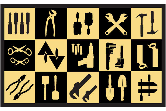 Print on Demand: Vector Tools Graphic Icons By AlexZel - Image 4