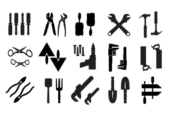 Print on Demand: Vector Tools Graphic Icons By AlexZel - Image 5