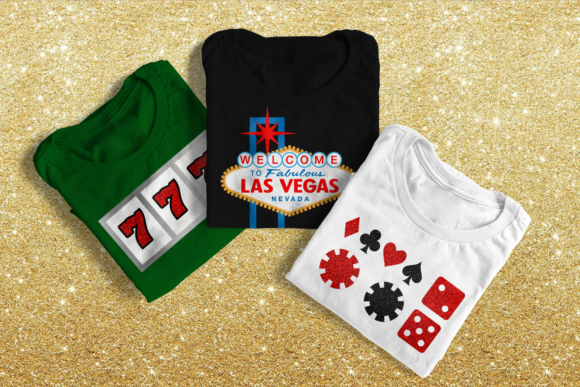Vegas Sign and Gambling Icons  Graphic Crafts By DesignedByGeeks