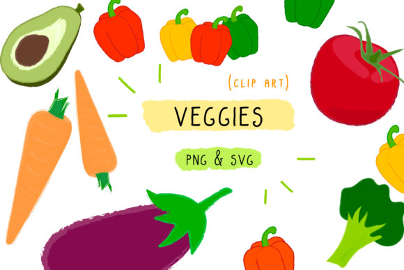 Print on Demand: Veggies Vegan Graphic Icons By Inkclouddesign